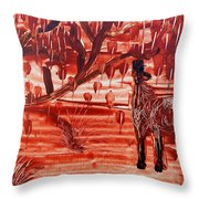 Horse And Tree Throw Pillow