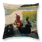 Horse Bath Throw Pillow