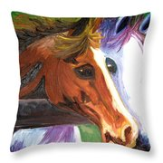Horse Bff Throw Pillow