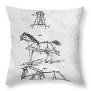 Horse Bridle Patent Throw Pillow
