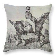 Horse Carriage Throw Pillow