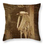 Horse Collar - Hat Throw Pillow