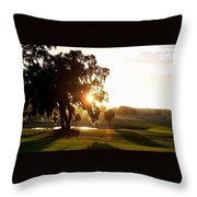 Horse Country Sunset Throw Pillow