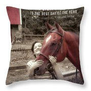 Horse Crazy Quote Throw Pillow