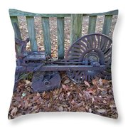 Horse Drawn Corn Planter Throw Pillow