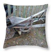 Horse Drawn Seeder Throw Pillow