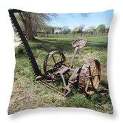 Horse Drawn Sickle Mower Throw Pillow