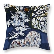 Horse Dreaming Below Trees Throw Pillow by Carol  Law Conklin
