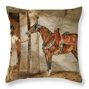 Horse Eastern Throw Pillow