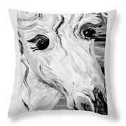 Horse Eyes Throw Pillow