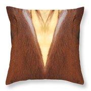Horse Eyes Love Throw Pillow