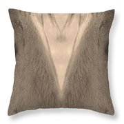 Horse Eyes Love Sepia Throw Pillow