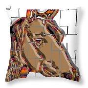Horse Faces Of Life 4 Throw Pillow