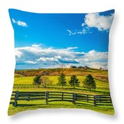 Horse Farm 6 Throw Pillow