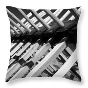 Horse Fence Throw Pillow