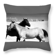 Horse Friends Two  Throw Pillow