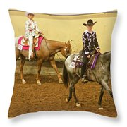 Horse Girls Throw Pillow