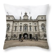 Horse Guards Throw Pillow