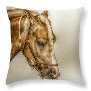 Horse Head Portrait Throw Pillow