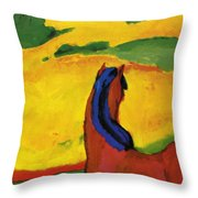 Horse In A Landscape 1910 Throw Pillow