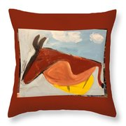 Horse In Contemplation Throw Pillow