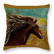 Horse In Heaven Throw Pillow