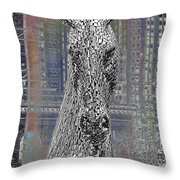 Horse In The City Throw Pillow