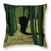 Horse In The Grass Throw Pillow