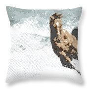 Horse In The Storm - Parallel Hatching Throw Pillow