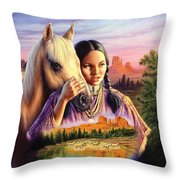 Horse Maiden Throw Pillow