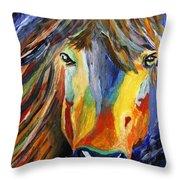 Horse One Throw Pillow