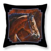 Horse Painting - Ziggy Throw Pillow