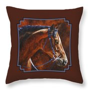 Horse Painting - Ziggy Throw Pillow