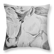 Horse Pair Throw Pillow