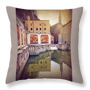 Horse Pond  Karajan Square  Salzburg Austria  Throw Pillow