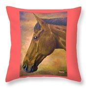 horse portraint PRINCETON pastel colors Throw Pillow