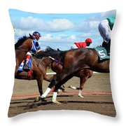 Horse Power 6 Throw Pillow