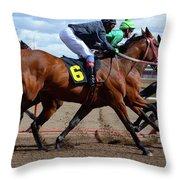Horse Power 9 Throw Pillow