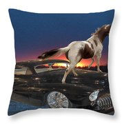 Horse Power Throw Pillow