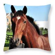 Horse Profile Throw Pillow