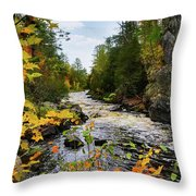 Horse Race Rapids 2 Throw Pillow