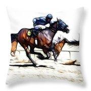Horse Racing Dreams 1 Throw Pillow