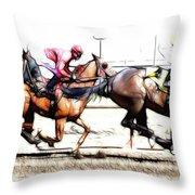 Horse Racing Dreams 2 Throw Pillow