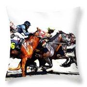 Horse Racing Dreams 3 Throw Pillow