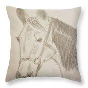 Rosie The Horse Throw Pillow
