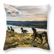 Horse Sculpture 4 Throw Pillow