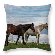 Horses #2 Throw Pillow