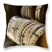 Horse Shoes Throw Pillow