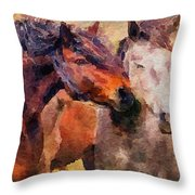 Horse Snuggle Throw Pillow