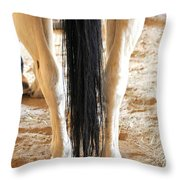 Horse Tail. Throw Pillow